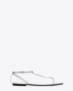 SAINT LAURENT Nu pieds D NU PIEDS 05 YSL Sandal in Silver f