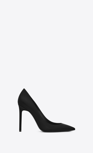 SAINT LAURENT Anja Woman Anja 105 escarpin pump in black leather a_V4