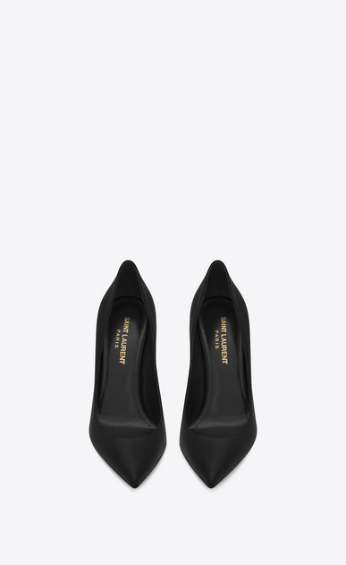 SAINT LAURENT Anja Woman Anja 105 escarpin pump in black leather b_V4