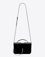 SAINT LAURENT Charlotte D Medium CHARLOTTE Messenger Bag nera in vernice f