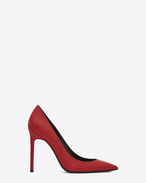 SAINT LAURENT Anja D Anja 105 escarpin pump in red leather f