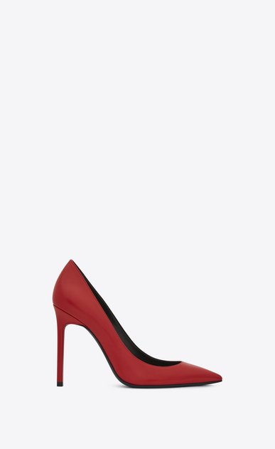 SAINT LAURENT Anja D Anja 105 escarpin pump in red leather a_V4