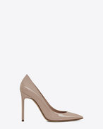 SAINT LAURENT Anja D Anja 105 Pumps aus muschelfarbenem Lackleder f