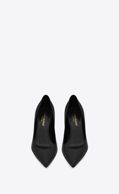 SAINT LAURENT Anja D Anja 65 escarpin pump in black leather b_V4
