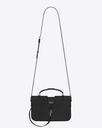 SAINT LAURENT Charlotte D medium charlotte messenger bag in black leather f