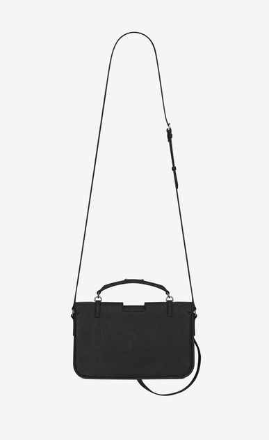SAINT LAURENT Charlotte D medium charlotte messenger bag in black leather b_V4