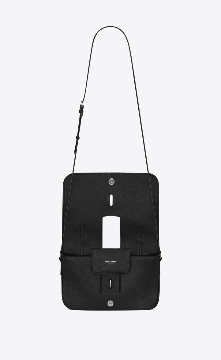 Saint Laurent Medium Charlotte Messenger Bag In Black Leather ... 31171b8b40b6b