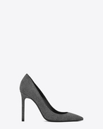 SAINT LAURENT Anja D ANJA 105 Pump in Washed Grey cotton f