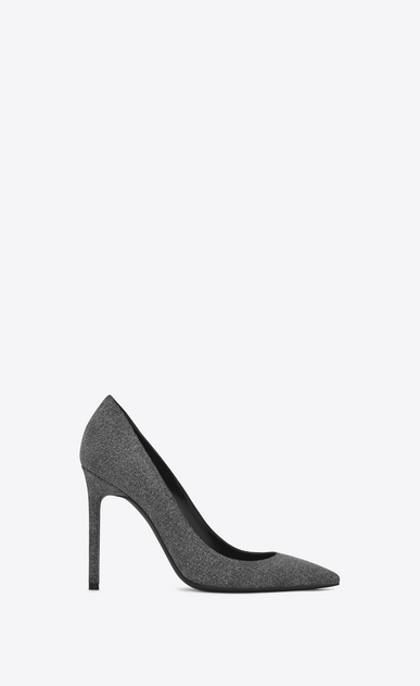 SAINT LAURENT Anja D ANJA 105 Pump in Washed Grey cotton a_V4