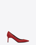 SAINT LAURENT Anja D Escarpin Anja 65 en cuir rouge f