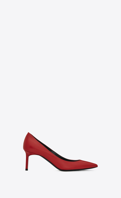 SAINT LAURENT Anja D Anja 65 escarpin pump in red leather a_V4