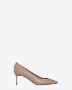 SAINT LAURENT Anja D Anja 65 Pumps aus muschelfarbenem Lackleder f