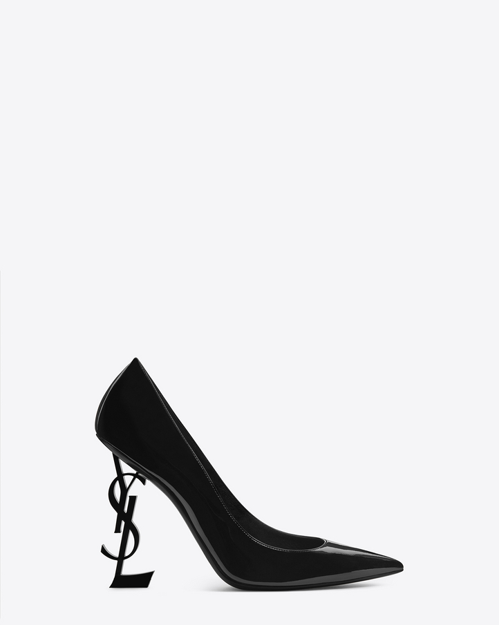Saint Laurent Opyum 110 Pump In Black Patent Leather And