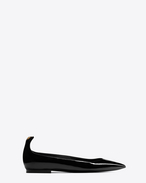 SAINT LAURENT Y D Y 05 Ballerina Black and Gold f