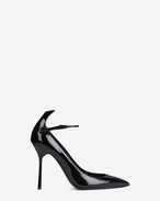 SAINT LAURENT Y D Y 105 Ankle Strap Pump in Black and Gold f