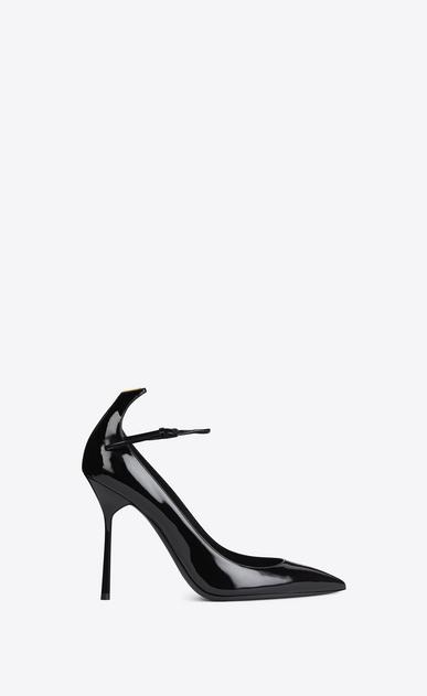 SAINT LAURENT Y D Y 105 Ankle Strap Pump in Black and Gold v4