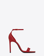 SAINT LAURENT Amber D Amber ankle strap 105 sandal in red leather f