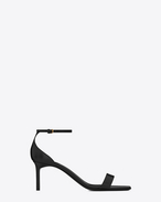 SAINT LAURENT Amber D Amber ankle strap 65 sandal in black leather f