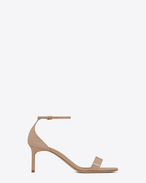 SAINT LAURENT Amber D Amber ankle strap 65 sandal in shell patent leather f