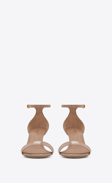 SAINT LAURENT Amber Woman amber ankle strap 65 sandal in beige rosé patent leather b_V4