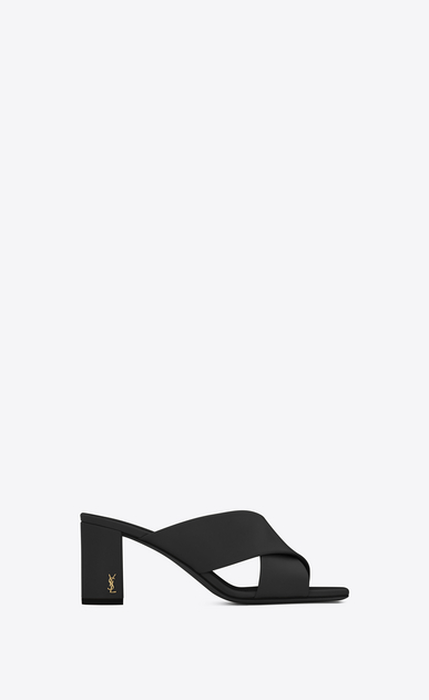 SAINT LAURENT Loulou D loulou 70 mule sandal in black leather a_V4