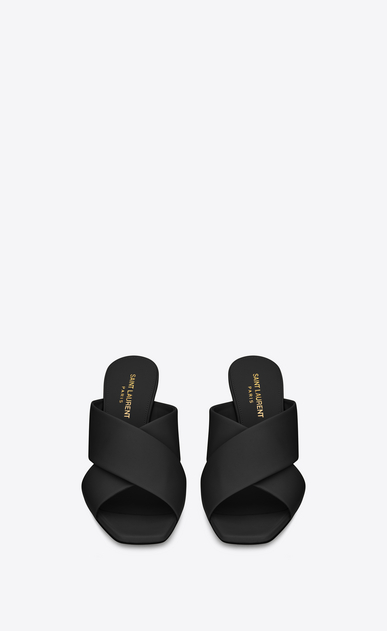 SAINT LAURENT Loulou D loulou 70 mule sandal in black leather b_V4