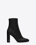 SAINT LAURENT Loulou D LOULOU 95 Zipped Ankle Boot in Black Crocodile Embossed leather f
