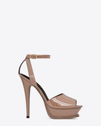 SAINT LAURENT Sandals D TRIBUTE 105 Peep Toe Sandal in Rose calf-skin leather f