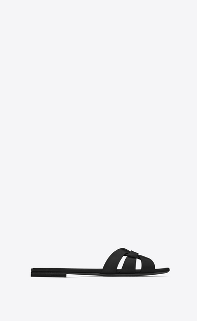 SAINT LAURENT Nu pieds D NU PIEDS 05 Strappy Sandal in Black leather a_V4