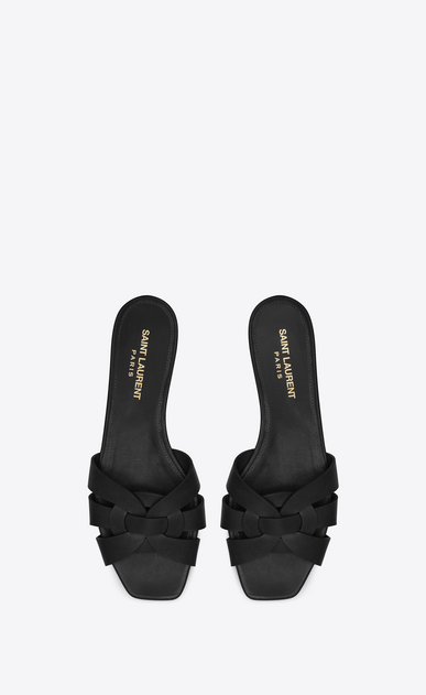 SAINT LAURENT Nu pieds D nu pieds 05 sandal in black leather b_V4
