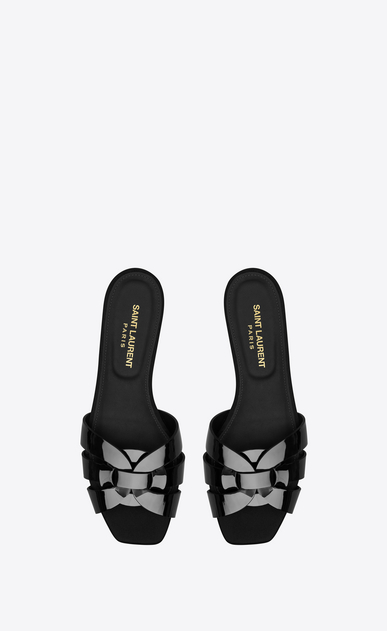 SAINT LAURENT Nu pieds D nu pieds 05 sandal in black patent leather b_V4