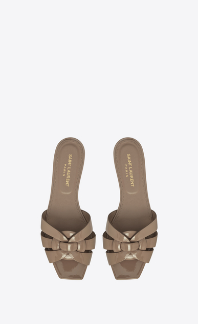 SAINT LAURENT Nu pieds D nu pieds 05 sandal in taupe patent leather b_V4