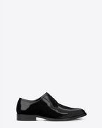 SAINT LAURENT Classic Masculine Shapes D MONTAIGNE 25 Derby Shoe in Black in leather f
