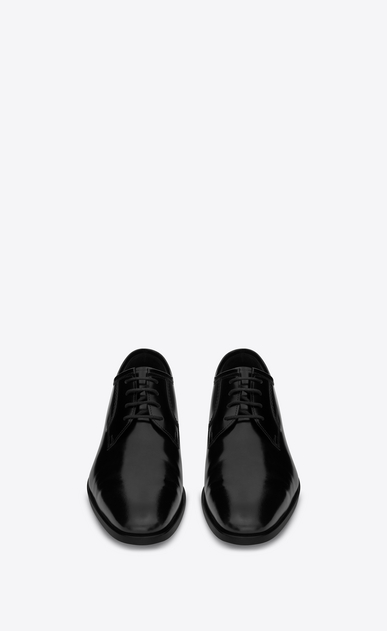 SAINT LAURENT Classic Masculine Shapes Woman MONTAIGNE 25 Derby Shoe in Black in leather b_V4