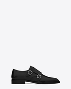 SAINT LAURENT Classic Masculine Shapes D ELI 25 Monk strap Shoe in Black f