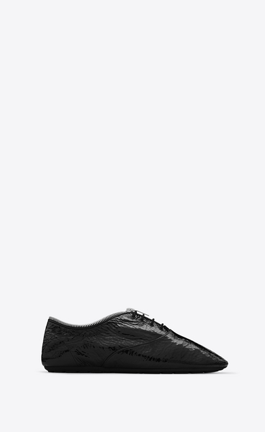 SAINT LAURENT Classic Masculine Shapes D VERNEUIL 05 RICHELIEU Sneaker in Black patent leather a_V4