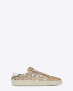 SAINT LAURENT Sneakers D Sneakers Signature COURT CLASSIC SL/06 CALIFORNIA color oro, argento e bianco ottico f