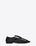 SAINT LAURENT Classic Masculine Shapes D RIVE GAUCHE RICHELIEUX 15 Shoe in Black f