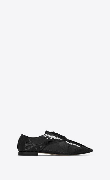 SAINT LAURENT Classic Masculine Shapes D RIVE GAUCHE RICHELIEUX 15 Shoe in Black a_V4