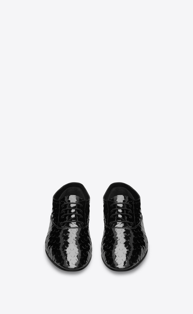 SAINT LAURENT Classic Masculine Shapes D RIVE GAUCHE RICHELIEUX 15 Shoe in Black b_V4