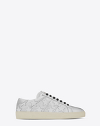 SAINT LAURENT Trainers D Signature COURT CLASSIC SL/06 CALIFORNIA Sneaker in Silver and Optic White f