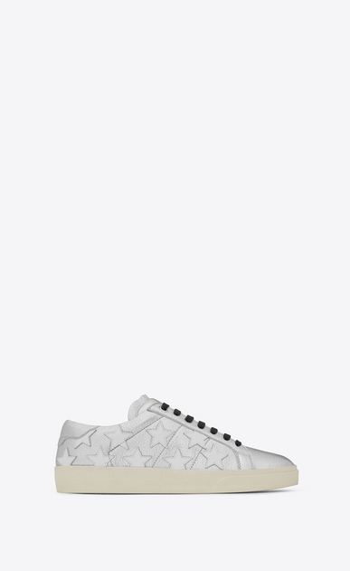 SAINT LAURENT Sneakers D signature court classic sl/06 california sneaker in silver and optic white leather v4