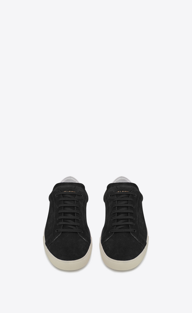 SAINT LAURENT SL/06 U signature court classic sl/06 sneaker in black suede and off white leather b_V4