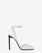 SAINT LAURENT Edie D EDIE 110 Peep Toe Sandal in Optic White f