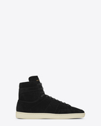 SAINT LAURENT SL/10H U signature court classic sl/10h in black suede f