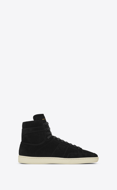 SAINT LAURENT SL/10H U signature court classic sl/10h in black suede a_V4