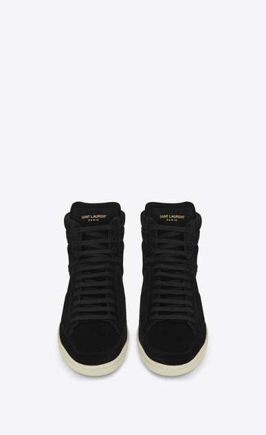 SAINT LAURENT SL/10H U signature court classic sl/10h in black suede b_V4