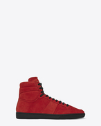 SAINT LAURENT SL/10H U Klassischer Signature Court SL/10H in Rot f