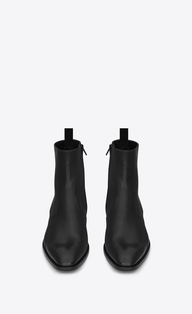 SAINT LAURENT Boots U Signature Wyatt 40 Zip Boot in Black b_V4