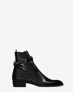 SAINT LAURENT Boots U Signature WYATT 40 Jodhpur Boot in Black f